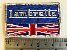 Lambretta Union Jack Rec Patch  - Embroidered - Iron or Sew On