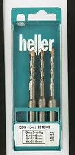Heller SDS+ Plus Bionic 3 piece Hammer Set 5mm 6mm 8mm High Quality German Tools