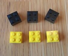 LEGO Fridge / Noticeboard Magnets x 6 Yellow and Black - Ideal Gift AFOL
