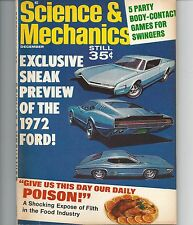 Science & Mechanics December 1968 Preview of 1972 Ford Good Condition