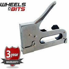 3 Way Heavy Duty Stapler Staple Gun Upholstery Wood Ceiling Repair + 800 staples