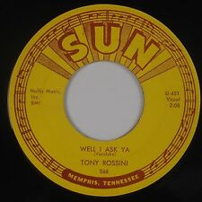 TONY ROSSINI: Well I Ask Ya / Darlena SUN Rockabilly VG++ Super 45 Orig HEAR