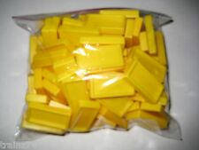 100 Pressman DOMINO RALLY DOMINOES  Replacements- YELLOW