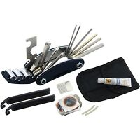 Bicycle Cycling Puncture Bike Multi Function Tool Repair Kit Set With Pouch NEW