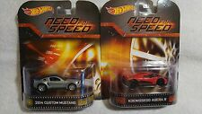 Hot Wheels Retro Need for Speed Koenigsegg Agera R and  2014 Custom Mustang