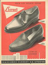 Publicité 1956  Chaussures CLERGET pret à porter collection mode farandole golf