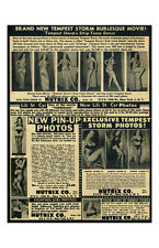 New Pin Up Girl Poster 11x17 Bettie Page Tempest Storm Teaserama Vintage Ad