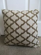 Sequin tile beaded 18x18 Decorative pillow cover in gold Home Decor Throw Hand