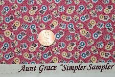 "AUNT GRACE ""SIMPLER SAMPLER"" QUILT FABRIC CIRCA 1930's BTY FOR MARCUS 5864-0326"