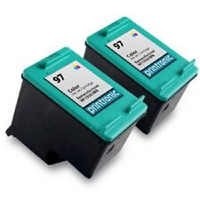 2pk Printronic For Hp 97 C9363WN Color Ink Cartridge