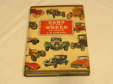 Cars of the World in Color J D Scheel 1967 hard cover book car auto vintage