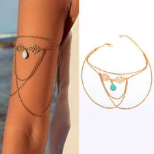 Turquoise Arm Slave Tassels Chain Upper Cuff Armband Armlet Bracelet Band