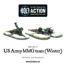 Warlord Games Bolt Action BNIB us army MMG Team (hiver) wgb-wai-21