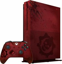 New Microsoft Xbox One S 2TB Console - Gears of War 4 Limited Edition Bundle Red