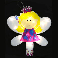 28cm Light Up LED Angel Fairy Silhouette Christmas Wall Window Indoor Decoration