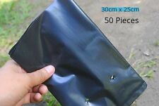 50 Pcs. Poly Grow Bags for Terrace Top Balcony Kitchen Gardening - 25 cm x 30 cm