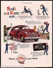 Nov.1946 FORD Dark Red 2-door Sedan Dark Red Antique Car AD 1947 Model