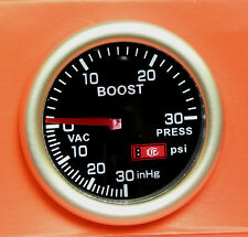 52mm Smoked Face Turbo Boost gauge psi Renault 5 GT Megane Clio Leguna Turbo