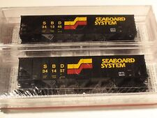 MICRO-TRAINS # 108052 SEABOARD SYSTEM 2 PACK 100 TON 3-BAY HOPPER RIB SIDE