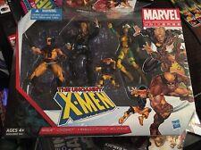 """THE UNCANNY X-MEN Marvel Universe 4"""" inch Figures 4-pack Longshot Rogue 2013"""