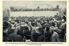 Fuego cruzado D. fotógrafos en discurso inaugural Mac Kinleys en washington bildd. 1901