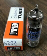6202 6X4WA United Black Plate Vacuum Tube NOS NIB Tested Strong (More Available)