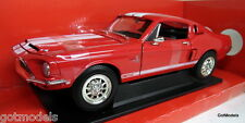 Road Siganture 1/18 Scale 1968 Shelby Mustang GT500 KR Red diecast model car