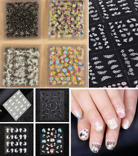 50 SHEETS 3D Nail Art Transfer Stickers Design Manicure Tips Decal Decorations