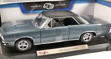 1965 PONTIAC GTO in Blue 1/18 scale model MAISTO