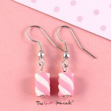 FUNKY CUTE FLUMP MARSHMALLOW SWEETS DROP HOOK EARRINGS GIRLS RETRO QUIRKY CANDY