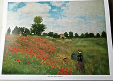Claude Monet Poppies by Argenteuil Poster 14x11 Offset Lithograph