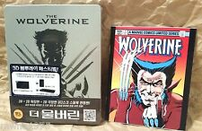 Marvel Comics THE WOLVERINE Blu-Ray 3D + 2D Korea STEELBOOK + Bonus Comic Book