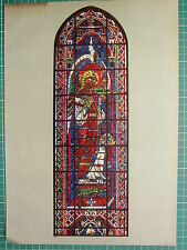 FRENCH CATHEDRAL STAINED GLASS WINDOW PRINT ~ ARCHANGEL WITH THURIBLE CHARTRES