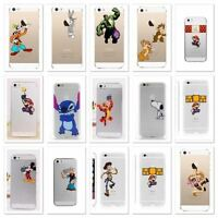 Disney Cartoons Transparent Clear TPU Soft case For Apple Iphone  5/5S & 5SE