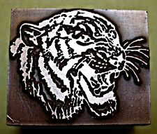 "A ""TIGER'S HEAD"" PRINTING BLOCK."