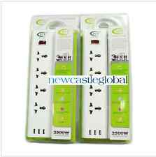 universal Power Strip 100-240V Multi-socket EU/US/UK Portable plug extension USB