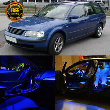 15x Interior LED Kit Package Dome Map Lamps Blue For 1997-2000 VW PASSAT B5