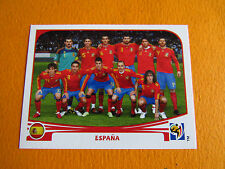 562 EQUIPE ESPAÑA ESPAGNE PANINI FOOTBALL FIFA WORLD CUP 2010 COUPE DU MONDE