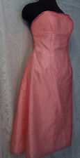 WOMENS PINK SHEER OVER PINK FORMAL EVENING PARTY PROM DRESS