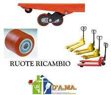 RUOTE RULLI CUSCINETTI PER TRANSPALLETS CARRELLO DIAM. 80X90 L. FORO 20 MM