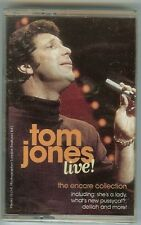 TOM JONES - LIVE! - CASSETTE - NEW