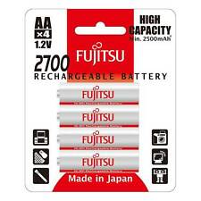 Fujitsu High Capacity AA Rechargeable Battery 2700mah