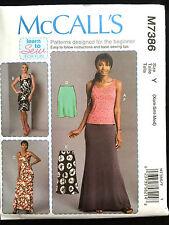 7386 MCCALLS Misses LEARN TO SEW Top Maxi Mini Dress Skirt Pattern UC 4-14 NEW
