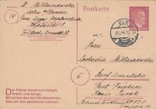 1944 Ulm Donau Germany Concentration Camp KZ Postcard Cover