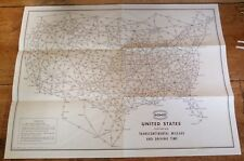 SOHIO-United States featuring Transcontinental Mileage & Driving Time / 1950's