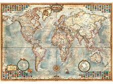 Puzzle de 1500 piezas con la imagen de un mapa político del mundo. 85 x 60 cm