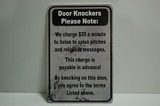 NO SOLICITING DOOR KNOCKERS canvassers Man Cave SIGN no salesman religious