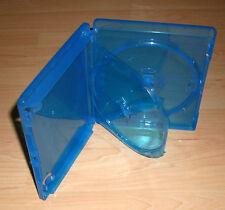 Blu Ray Hülle 2fach Doppelhülle zweifach 15mm 1,5cm blau Blu-Rays Blue Ray Neu