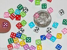 8pc Lot tiny Miniature Dollhouse dice die charm miniatures findings 5mm no hole