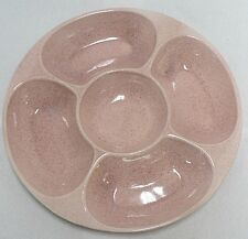 RED WING POTTERY SPECKLED PINK RELISH DISH NUMBER 446